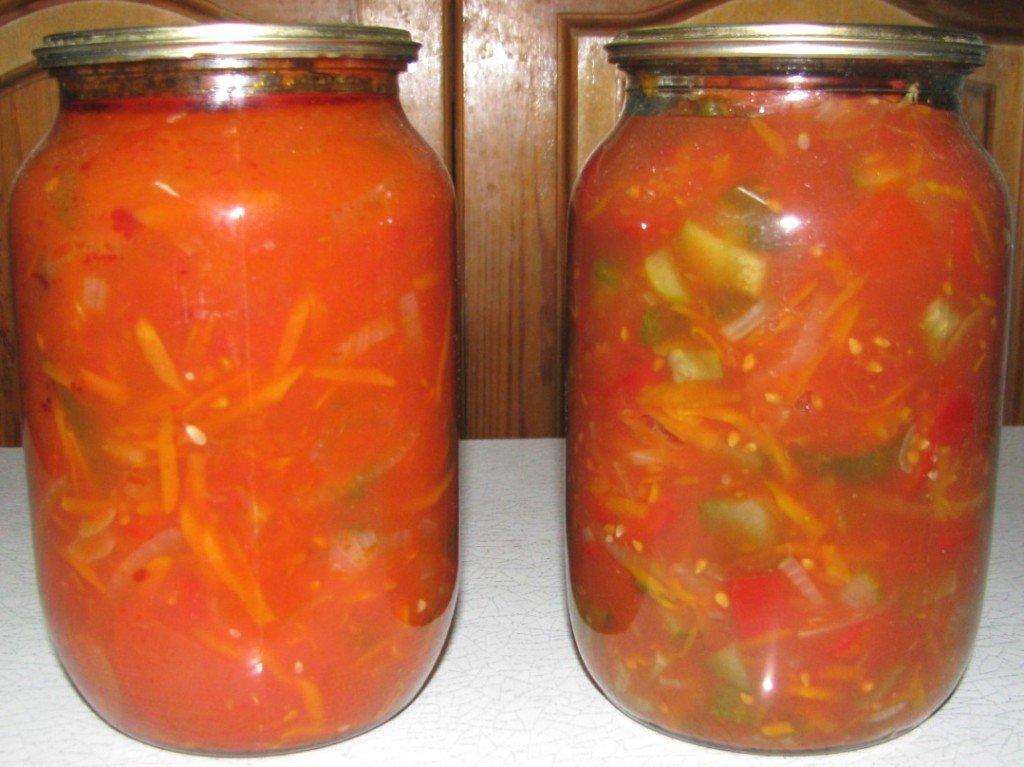 салаты на зиму из огурцов капусты перца помидор