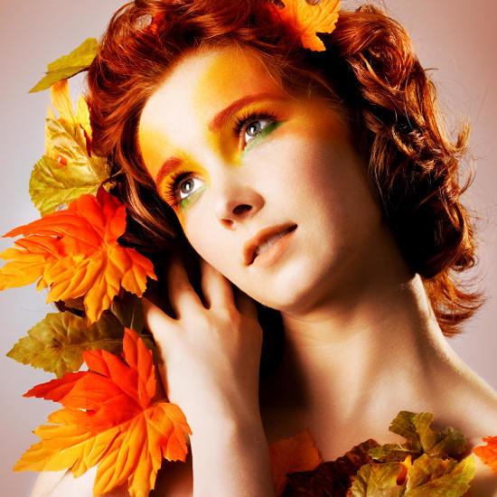 Варианты осеннего макияжа для фотосессии