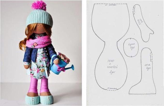 куклы своими руками из ткани с выкройками фото