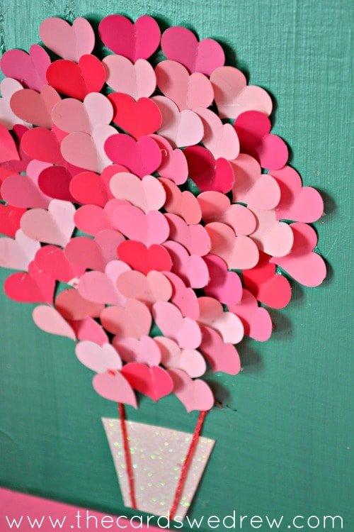 Для любимого, открытки из цветной бумаги на день святого валентина