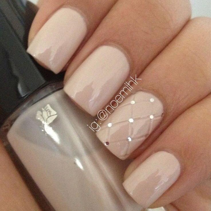 Бежевый ногти дизайн