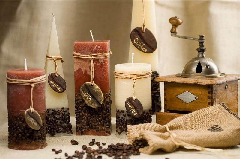 Кофейную свечу своими руками фото, подушечки для свадебных колец своими руками фото