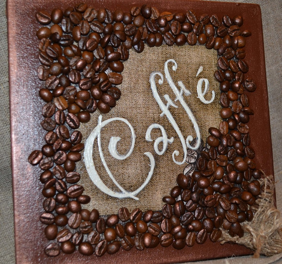 Открытка днем, картинки из кофейных зерен своими руками фото