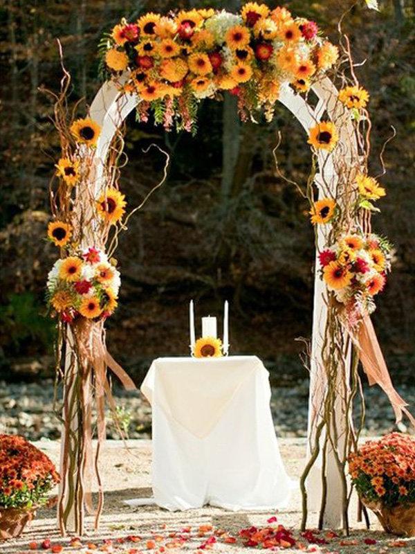 Арка на осеннюю свадьбу