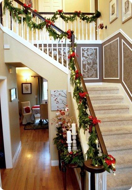 украшение лестницы в соответствие дому