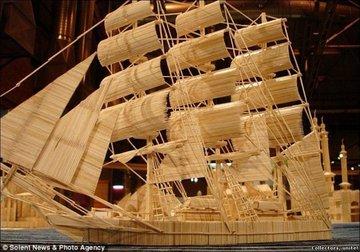 Корабль из спичек своими руками фото 306