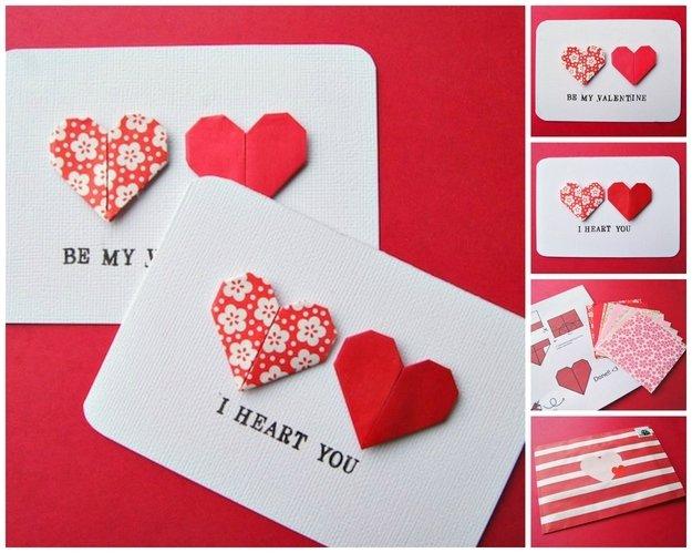 открытки с день святого валентина своими руками
