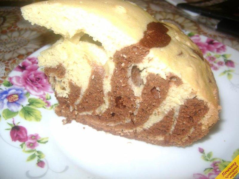 Кекс зебра классический рецепт с фото пошагово