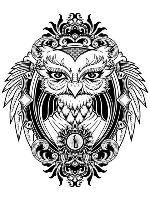 картинки чёрно белые татуировки