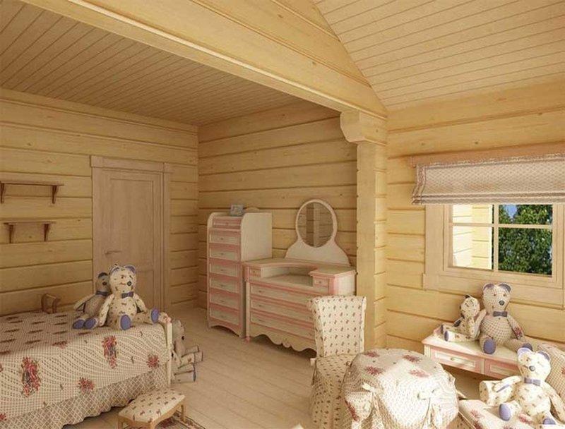 дизайн деревянного загородного дома внутри фото