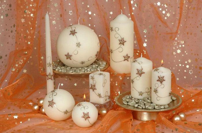 Восковые и резные свечи ручной работы