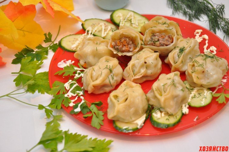 Манты с овощами рецепт с фото