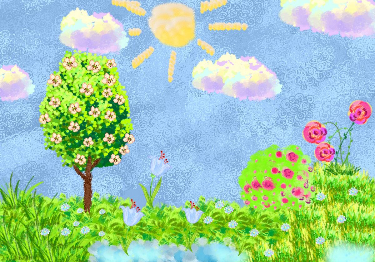 умерла цветут сады рисование в старшей группе картинки тем, кто вернулся