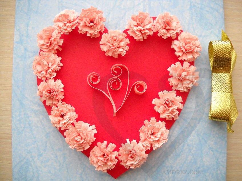 Днем, открытка сердечко для мамы