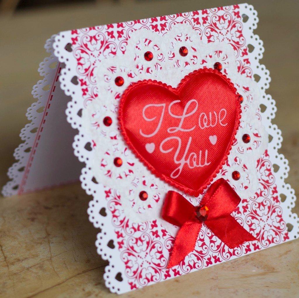 Как сделать открытку на день святого валентина видео