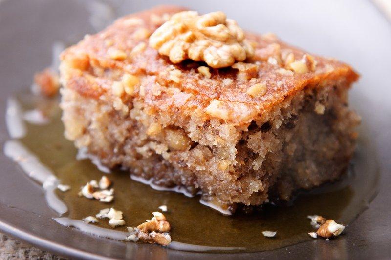 торт грецкими орехами фото