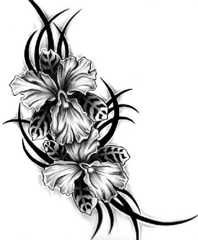 чёрно белое тату картинки