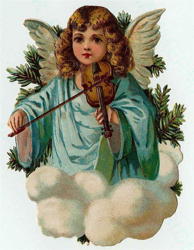 Рождественские открытки ангелами, родителям