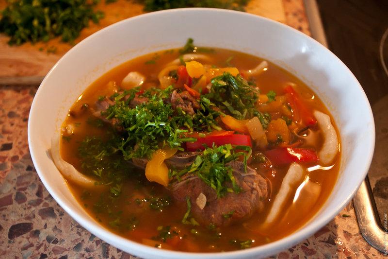 суп лагман рецепт из говядины с фото пошагово