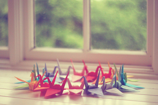 Цветные журавлики