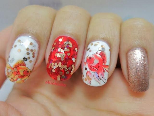Фото ногтей с рыбками
