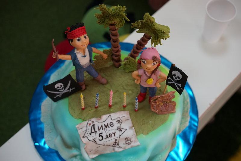 Пиратский торт на детский день  рождения