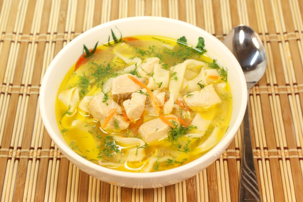 суп с курицей и лапшой рецепт с фото пошагово