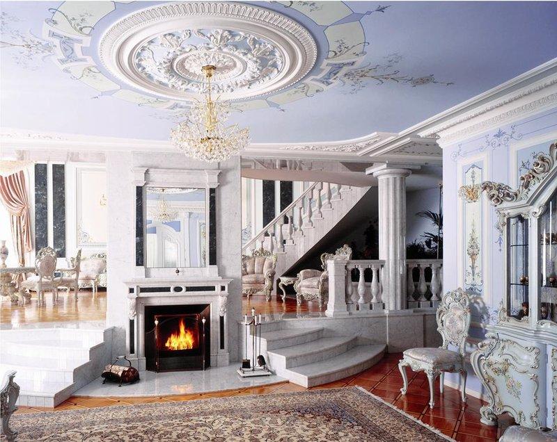 Потолок в стиле классицизм