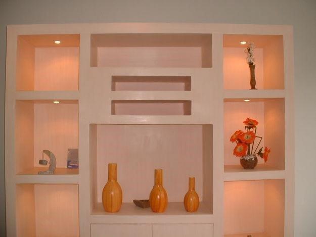 полочки на стену из гипсокартона