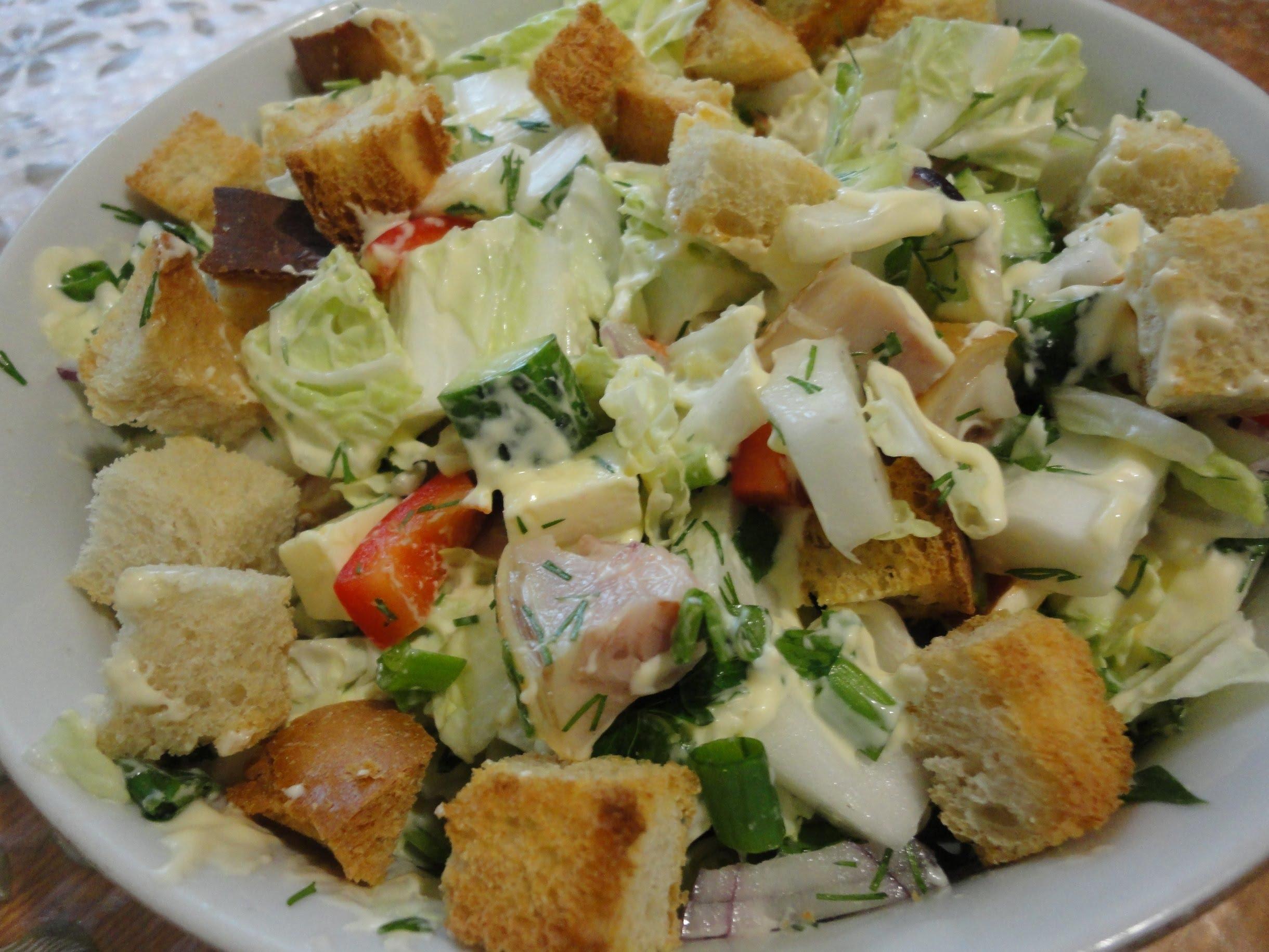 Легкий салат без майонеза с 162
