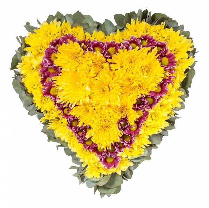 Цветы в виде сердца спб, митино