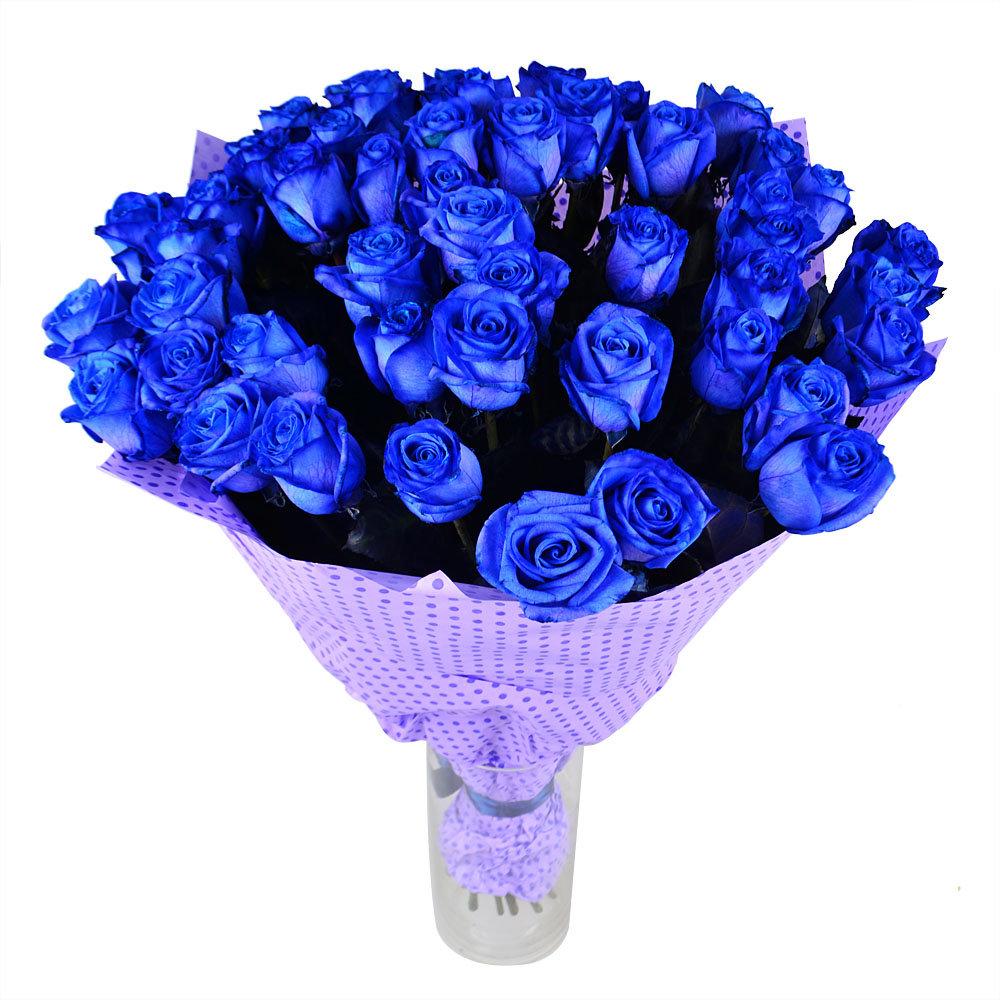 Картинки с синими розами, открытка