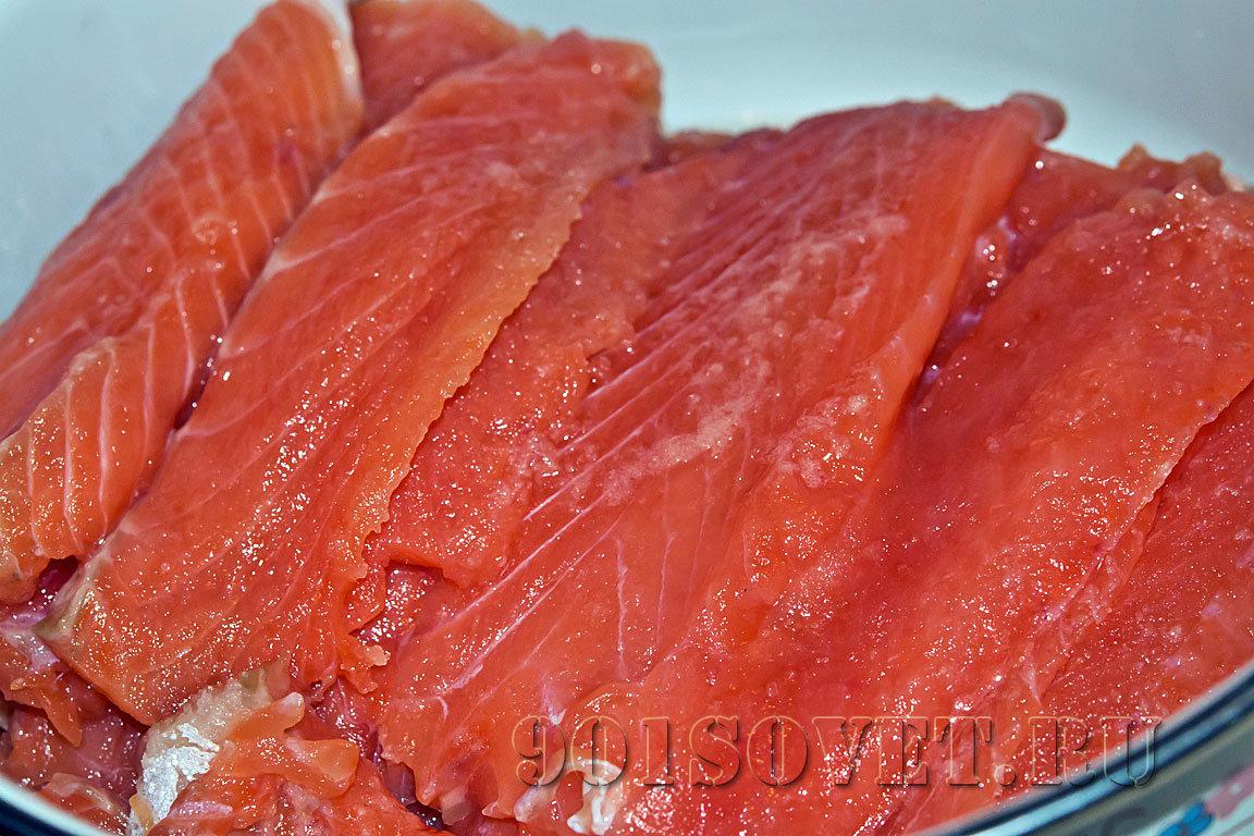 Приснились куски красной рыбы