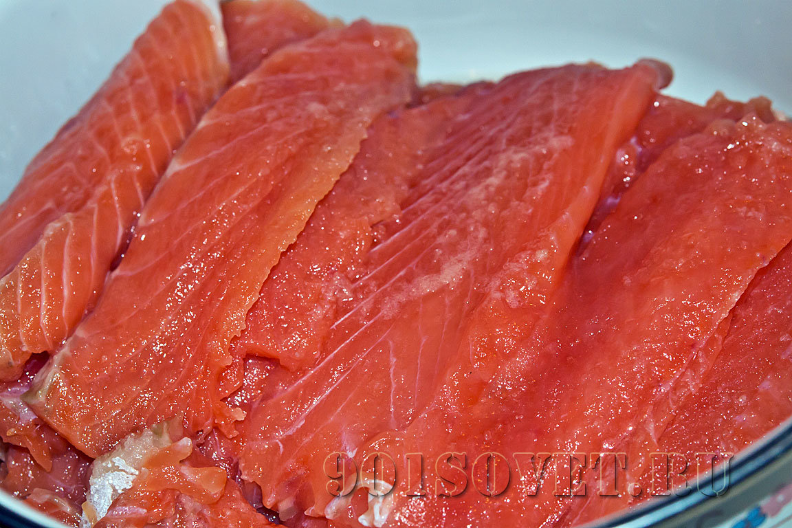 посол красной рыбы в домашних условиях быстро видео