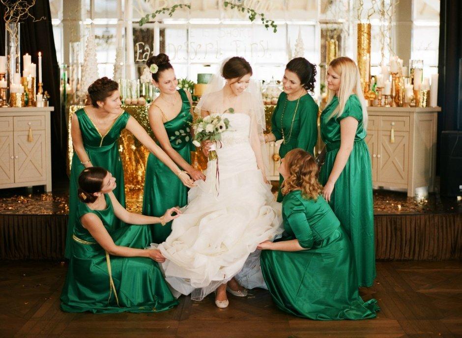 свадьба в зеленых тонах фото привлекла