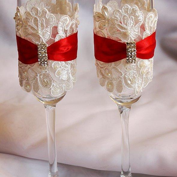 Бокалы на свадьбу для молодых