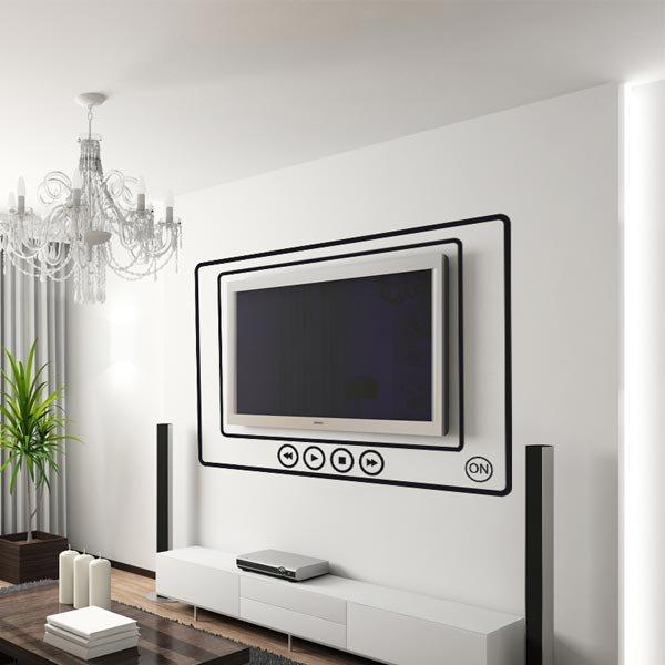 Открытки новым, картинка с телевизором на стене