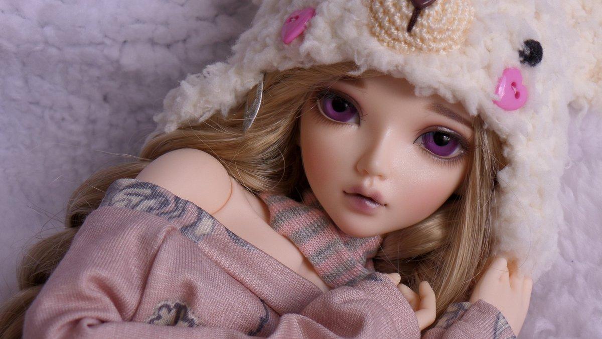 Картинка с куколкой, днем рождения