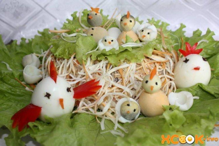 Салаты с фото гнездо оформления