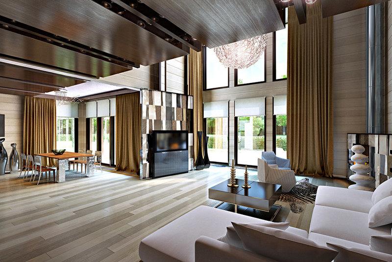 Создаем красивый дизайн интерьера внутри деревянного дома ...