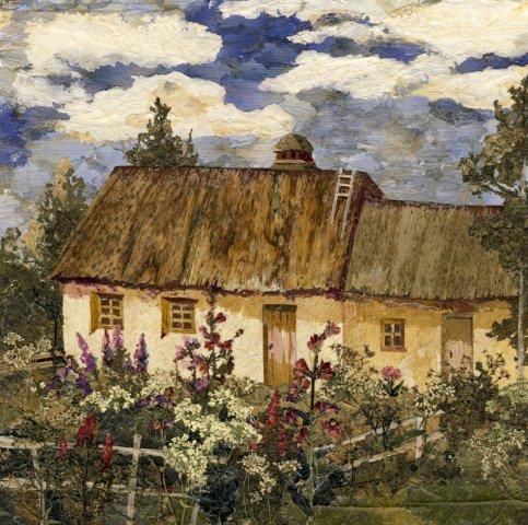 дом а рядом цветы
