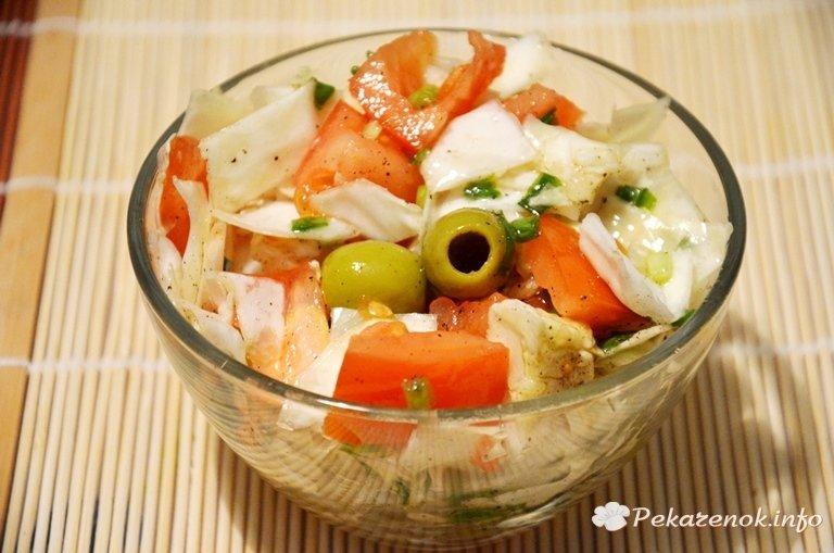 салат с капустой и оливками и