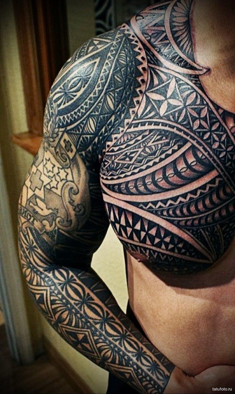 татуировки полинезийские фото
