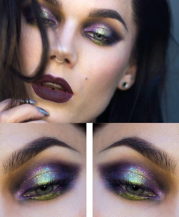 Яркий макияж глаз в фото