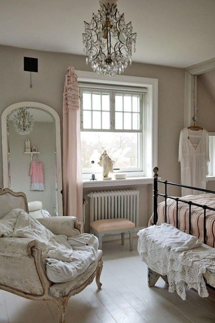 окно спальне в стиле шебби-шик
