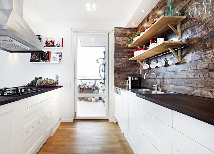 как оформить интерьер кухни в скандинавском стиле стены пол