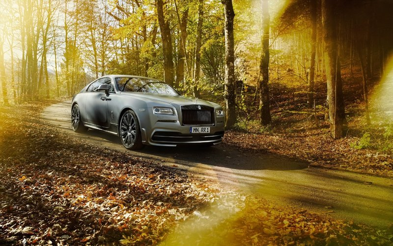 Oсень, лес, автомобиль, машина, листья .