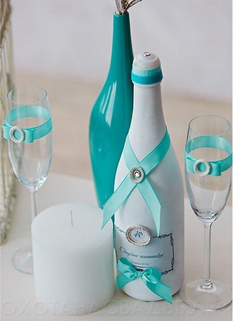 Бутылка и бокалы на свадьбу своими руками фото фото 56