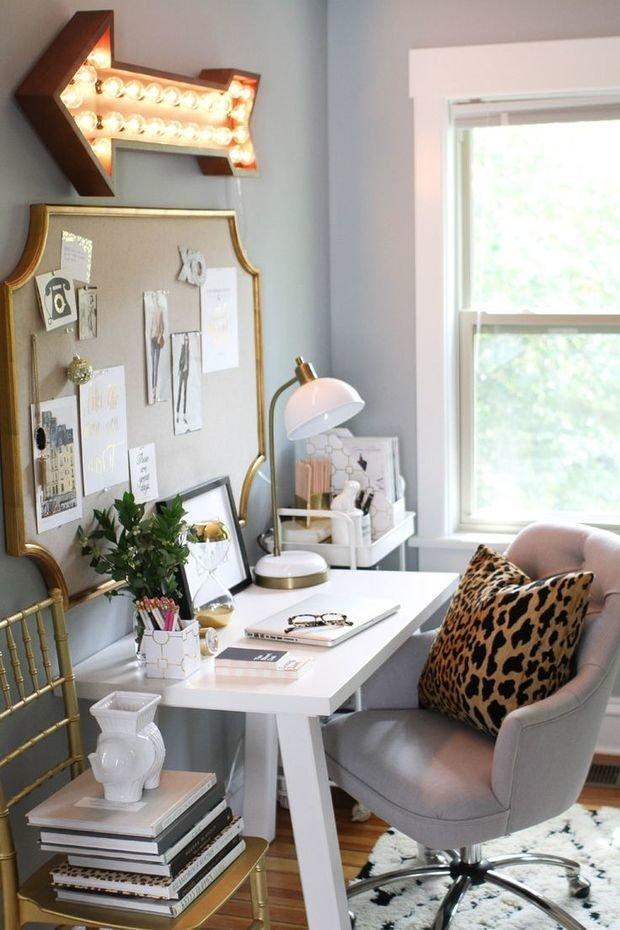 Как найти вдохновение на рабочем месте, в чем достоинства доски-органайзера и зачем нужно зеркало над письменным столом – вместе с профессионалом рассказываем, как декорировать стены в домашнем офисе