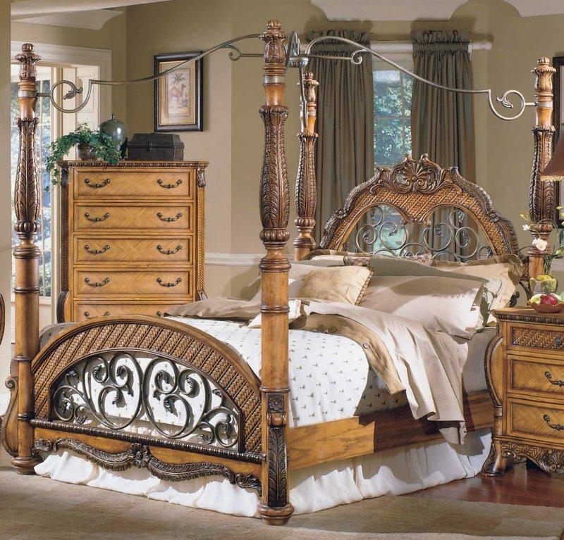 Красивая мебель кованая кантри.